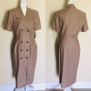 Vintage 80's Twill Office Button Down Dress Suit